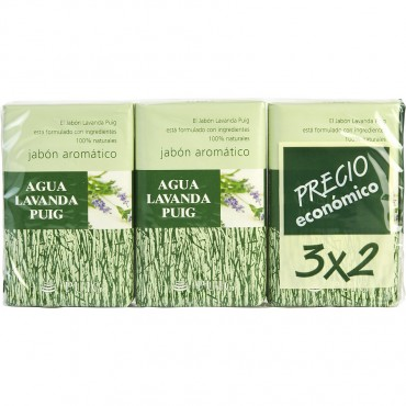 Agua Lavanda Puig - Set Of 2 Soaps Plus 1 Free And Each Is 4.4 oz