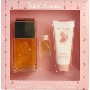 White Shoulders - Eau De Cologne Spray 4.5 oz And Body Lotion 3.3 oz And Parfum 0.25 oz Mini