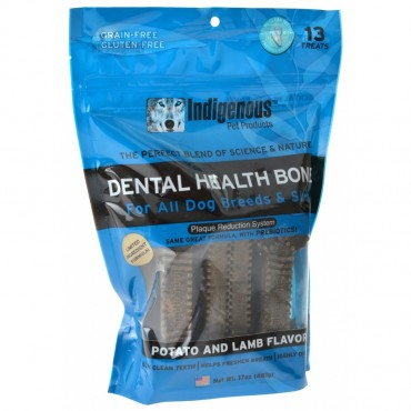 Indigenous Dental Health Bones - Potato and Lamb Flavor - 13 Count