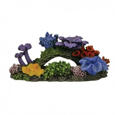 Exotic Environments Hawaiian Reef Aquarium Ornament - 14.25 in. L x 6 in. W x 6 in. H
