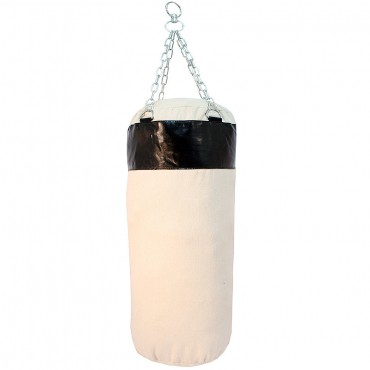 Black Canvas Punching Bag with Chains Brand New