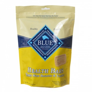 Blue Buffalo Health Bars Dog Biscuits - Baked with Bananas and Yogurt - 16 oz