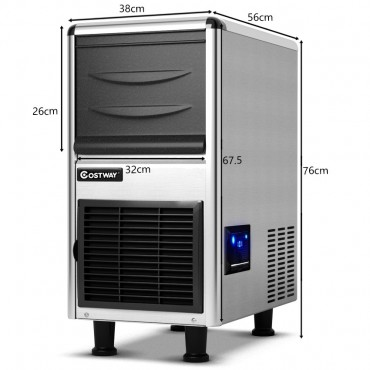 Freestanding Stainless Steel Commercial Ice Maker