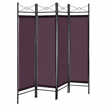 4 Panels Metal Frame Room Private Folding Screen