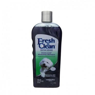Fresh 'n Clean Snowy Coat Whitening Shampoo - Sweet Vanilla Scent - 18 oz