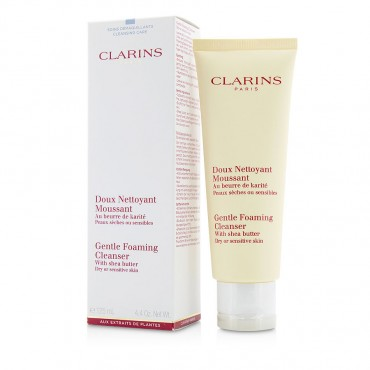 Clarins - Gentle Foaming Cleanser With Shea Butter  Dry Sensitive Skin  125ml/4.4oz