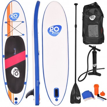 Goplus 10 Ft. Inflatable Standup Board With Adjustable Paddle