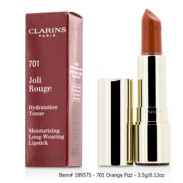 Clarins - Joli Rouge Long Wearing Moisturizing Lipstick  701 Orange Fizz 3.5g 0.12oz