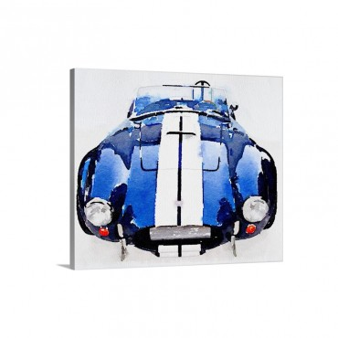1962 AC Cobra Shelby Watercolor Wall Art - Canvas - Gallery Wrap