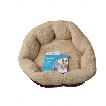 Aspen Pet Self Warming Pet Bed - Spice and Cream - 19 Diameter