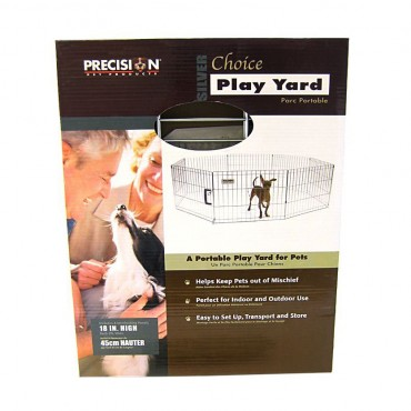 Precision Pet Silver Choice Exercise Pen Model SXP - 18 Tall and 4 x 4 Square