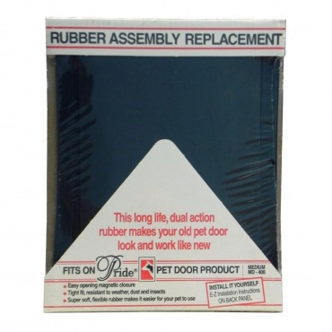 Pride Pet Doors Rubber Assembly Replacement Pet Door Flap - Medium 14.5 Long x 10.5 Wide