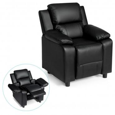 Deluxe Kids Armchair Recliner Sofa With Headrest