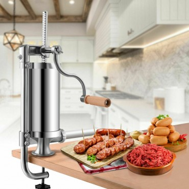 1.5 L Stainless Steel Vertical Sausage Stuffer Maker
