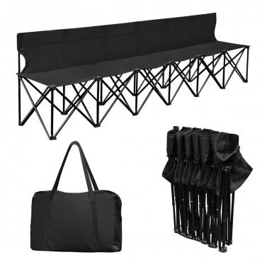 Portable 6 Seats Folding Chair W / Carry Bag