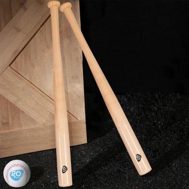 2 Pcs 34 In. Natural Wooden Baseball Bat And 2 Pcs 9 In. Baseball
