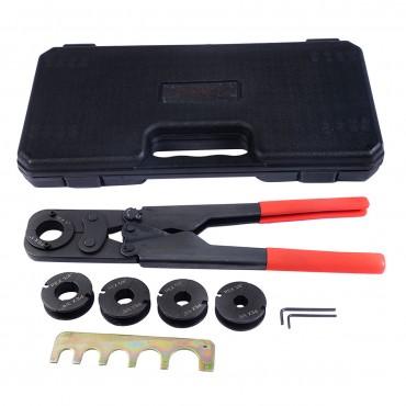 5 In 1 Pex Crimper Kit Copper Ring Crimping Plumbing Tool 3/8 In. 1/2 In. 5/8 In. 3/4 In. 1 In.