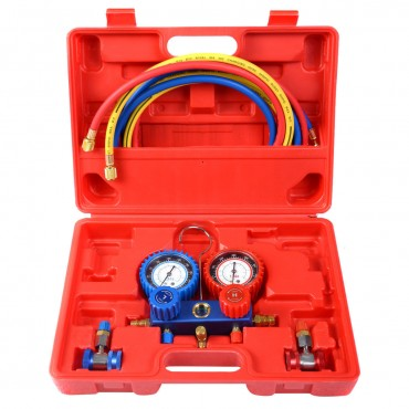 R134A Manifold Air Conditioner Gauge Set With Case