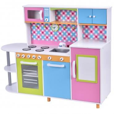Kids Toddler Cooking Pretend Play Toy Kitchen Set