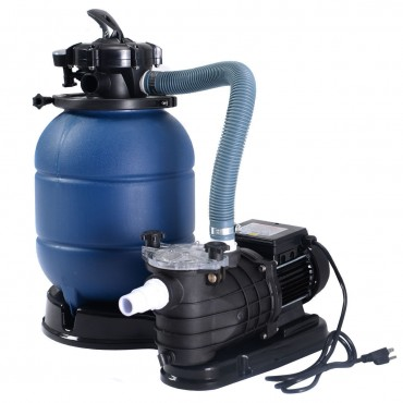 Pro 2450 GPH 13 In. Sand Filter Above Ground Swimming Pool Pump