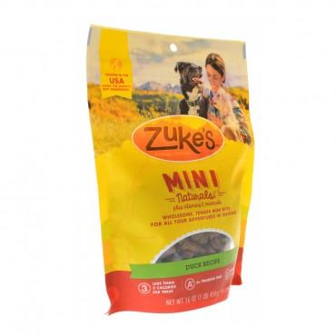 Zukes Mini Naturals Moist Dog Treats - Delicious Duck Recipe - 1lb