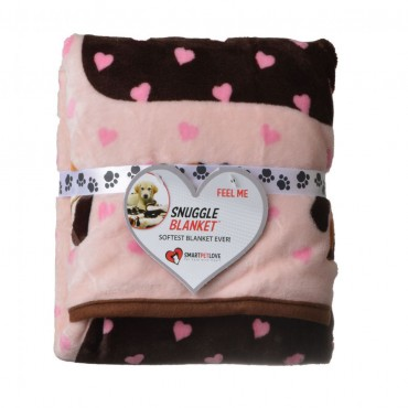 Smart Pet Love Snuggle Blanket - Pink Heart - 1 Pack - 48 L x 30 W