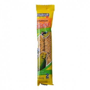 VitaKraft Sesame and Banana Sticks for Parakeets - 2.11 oz - 2 Pack - 3 Pieces