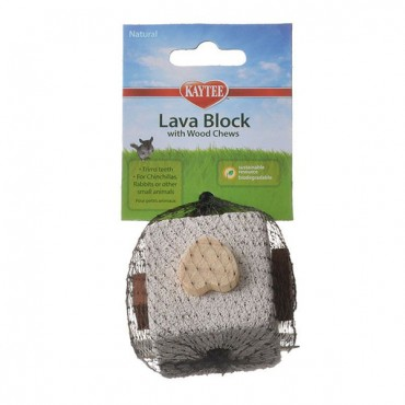 Kaytee Natural Lava Block with Wood Chews - 2.5 in. Cube - 5 Pieces