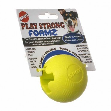 Spot Play Strong Foamz Dog Toy - Ball - 2.5 in. Diameter - Assorted Colors - 4 Pieces