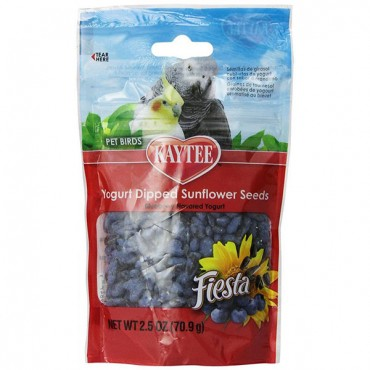 Kaytee Fiesta Yogurt Dipped Sunflower Seeds - Blueberry - 2.5 oz - 3 Pieces