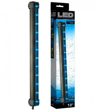 Via Aqua Blue LED Light & Air stone - 2.7 Watts - 12 in. Long