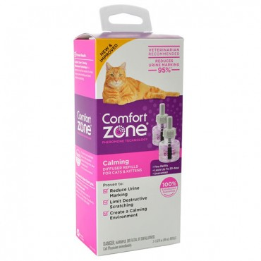 Comfort Zone Calming Diffuse Refills for Cats & Kittens - 2 Count - 2 x 48 ml