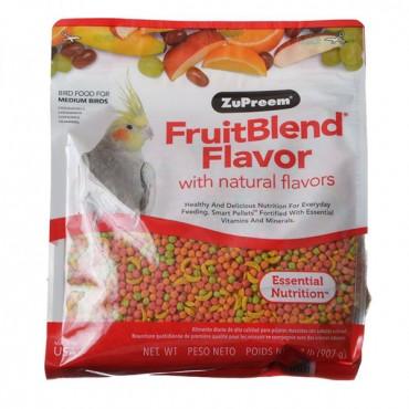 ZuPreem FruitBlend Flavor Bird Food for Medium Birds - 2 lbs