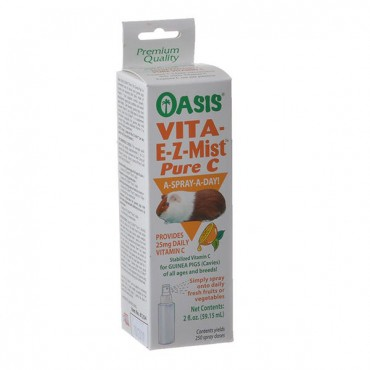 Oasis Vita E-Z-Mist Pure C Spray for Guinea Pigs - 2 oz - 250 Sprays