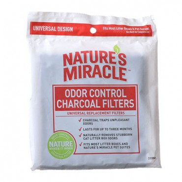 Nature's Miracle Odor Control Litter Box Filter - 2 Pack - 4 Pieces