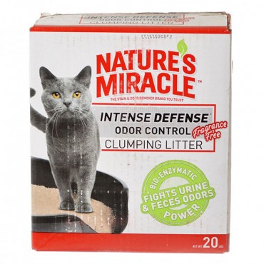 Nature's Miracle Intense Defense Odor Control Clumping Litter - Unscented - 20 lbs