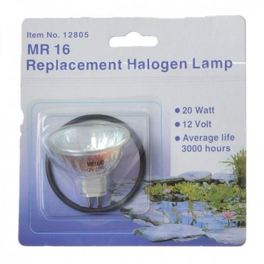 Danner MR 16 Replacement Halogen Lamp - 20 Watts - Submersible Replacement Pond Lamp