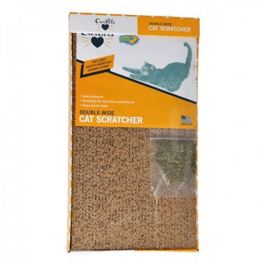 Our Pets Cosmic Catnip Cosmic Double Wide Cardboard Scratching Post - 20 in. L x 9.5 in. W x 2 in. H