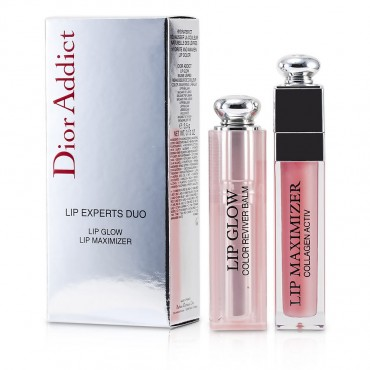 Christian Dior - Dior Addict Lip Experts Duo  1x Lip Glow 001 1x Lip Maximizer 001 2pcs
