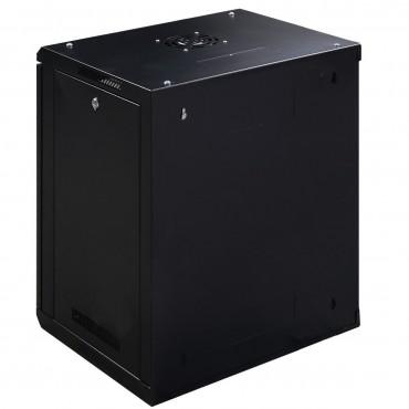 12U Wall Mount Network Server Data Cabinet W / Glass Door