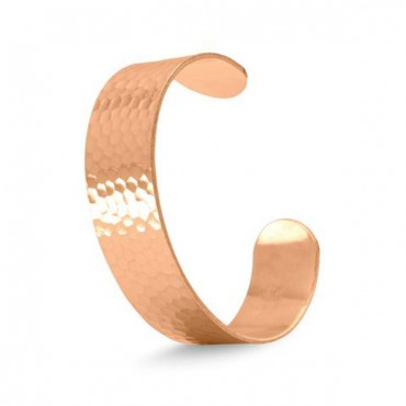 19 mm Hammered Solid Copper Cuff Bracelet