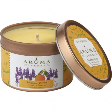 Relaxing Aromatherapy - One 2.5x1.75 Inch Tin Soy Aromatherapy Candle