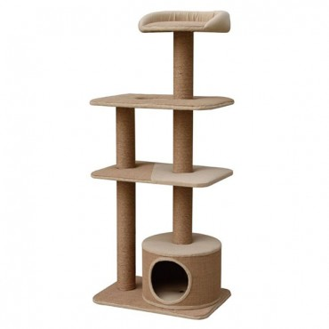 Pet Pals Four Level Cat Playhouse with Condo - 22 in. L x 15 in. W x 52 in. H