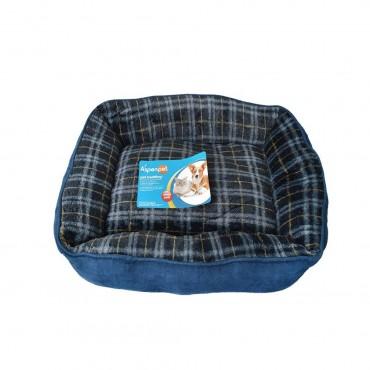 Aspen Pet Plush Pet Lounger - 22 L x 18 W Assorted Colors