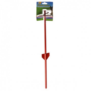 Four Paws Roam About Tie Out Stake - 23 in. Red Tie Out Stake - 2 Pieces