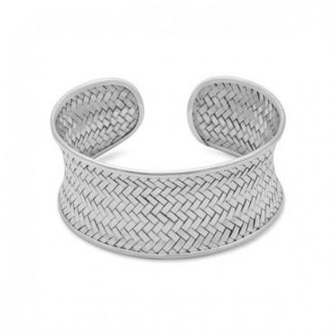 Concave Woven Cuff Bracelet