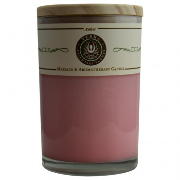 Rose - Massage And Aromatherapy Soy Candle 12 oz Tumbler