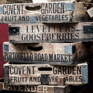 Old Wooden Market Crates, London