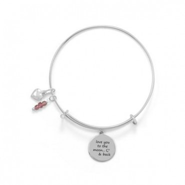 Love You To The Moon And Back - Bangle