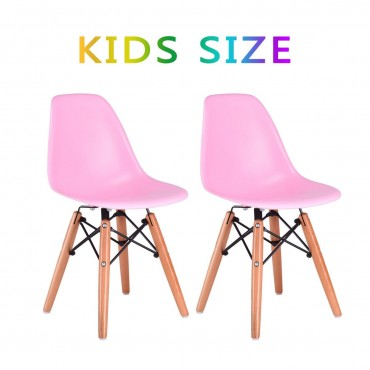 2 Colors Set Of 2 Kids Dining Armless Molded Side Chair